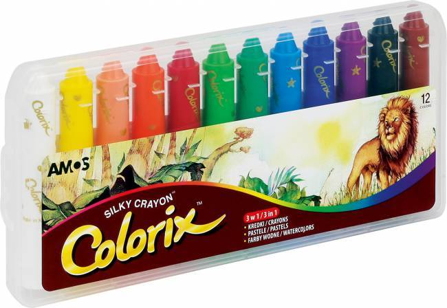 Kredki artystyczne 12 kolorów AMOS COLORIX - X00648