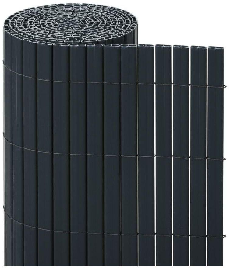 Osłona balkonowa PVC 5 m x 150 cm antracytowa NATERIAL
