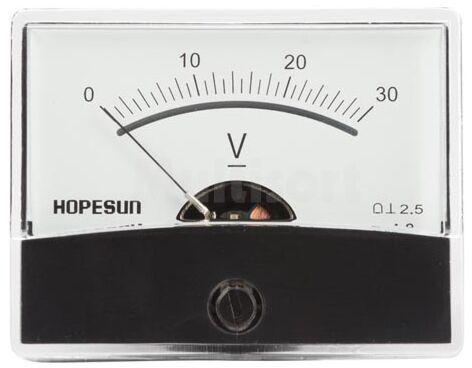 Analogowy woltomierz panelowy 30V DC 60x47mm