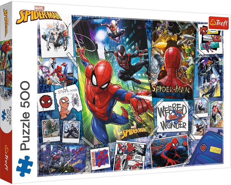 Puzzle 500 elementów Plakaty z superbohaterem Spiderman