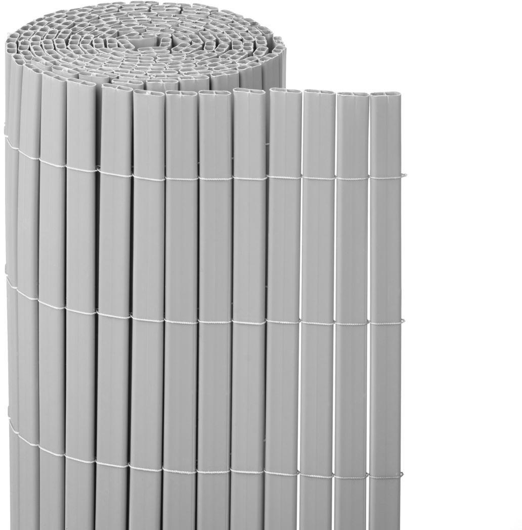 Osłona balkonowa PVC 5 m x 150 cm szara NATERIAL