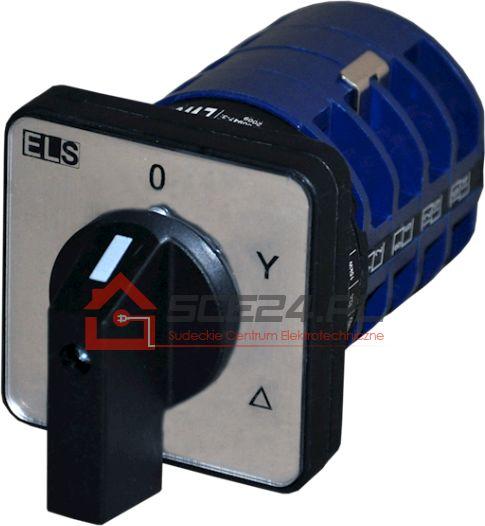 Łącznik krzywkowy 0-Y-D 25A 3F tablicowy