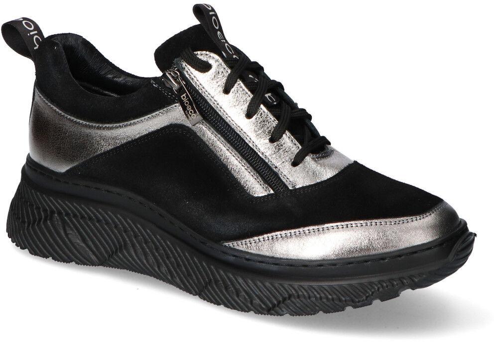 Sneakersy Arka BI5959/2019+0952 Czarne zamsz/Srebrne lico