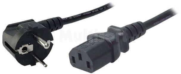 Kabel sieciowy 3m do komputera czarny