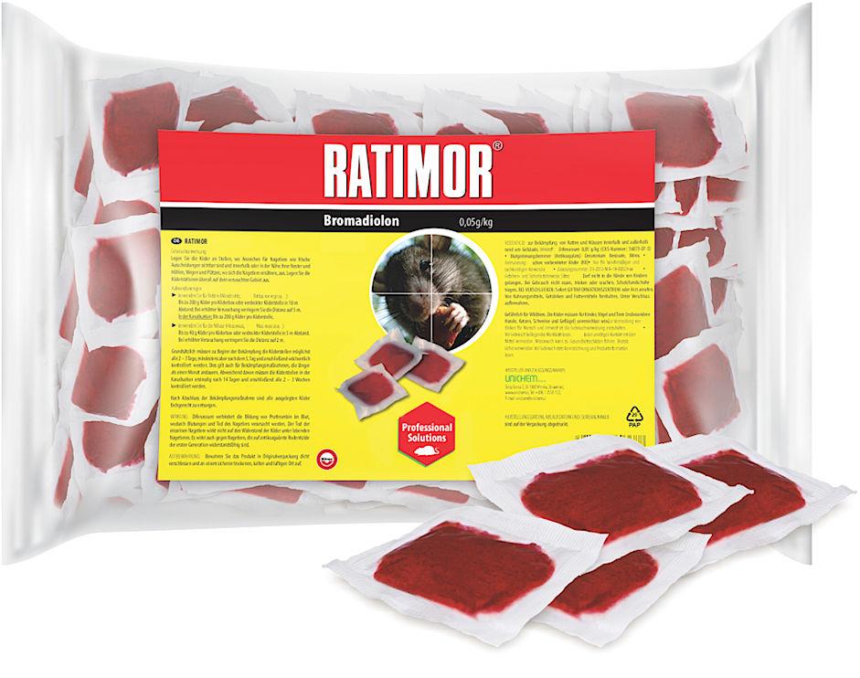 1kg Trutka na szczury, myszy, gryzonie. Ratimor bromadiolone pasta.