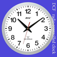 Zegar srebrny sterowany radiowo #1