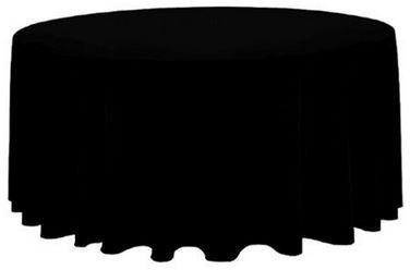 Obrus czarny okrągły fi 300cm na stół Fi 180 cm