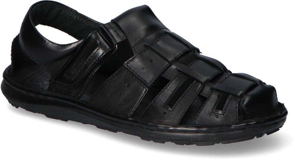 Czarne Sandały Pan licowe Pan 1496 Czarne