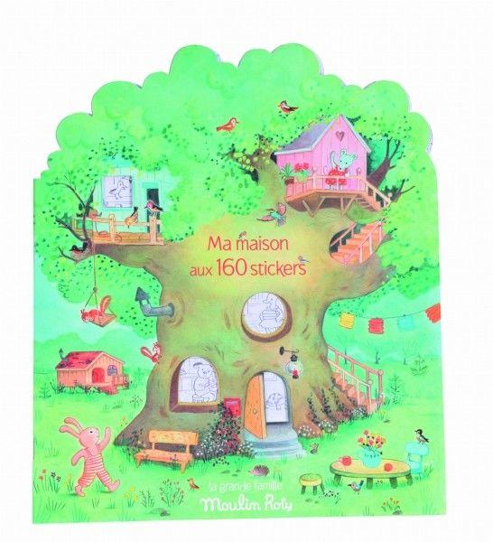 Moulin Roty - Kolorowank z Naklejkami - 20 Stron la Grande 632626