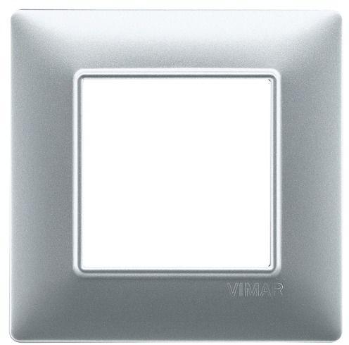 Ramka 2M srebrna matowa
