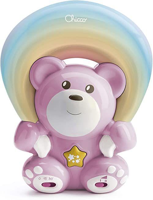 Chicco 1047410000 tęczowy projektor niedźwiedź różowy, różowy