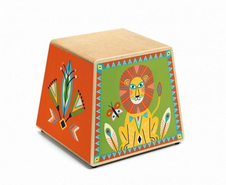 Djeco - Drewniany instrument perkusyjny CAJON DJ06014