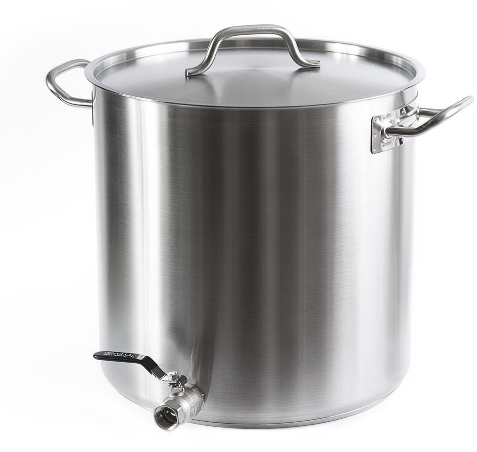 Garnek 50 l do gotowania mleka garnek z kranem 3/4 cala grube dno