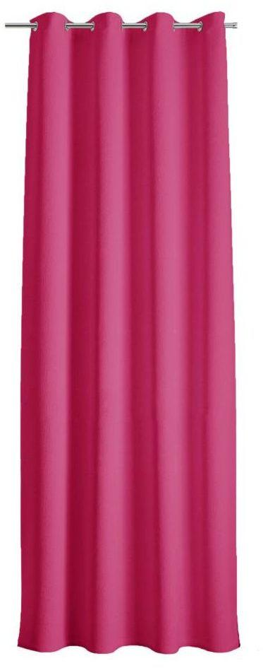 Zasłona Andres różowa fuksja 145 x 250 cm na przelotkach