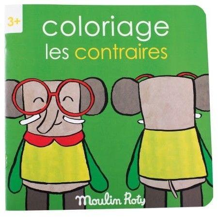 Moulin Roty - Kolorowanka Przeciwieństwa 20 Stron 661602
