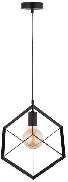 Lampa sufitowa wisząca klatka CUBE 1 ZWIS SKOS czarny 32049