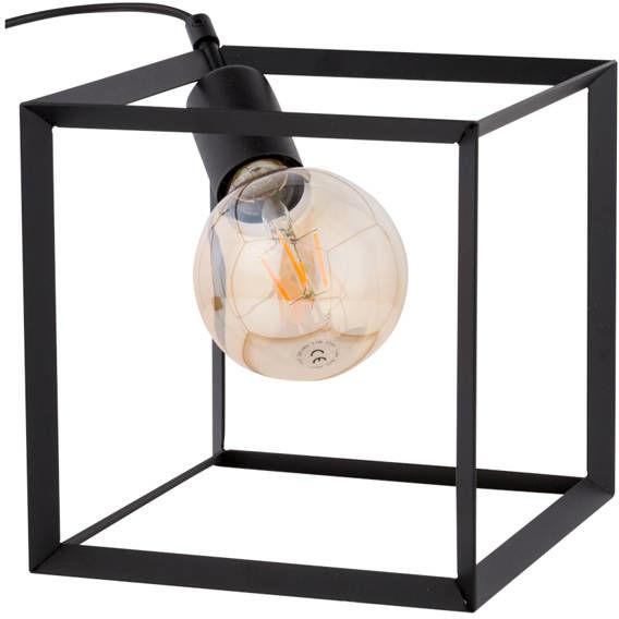 Nowoczesna lampka biurkowa stołowa nocna CUBE LAMPKA czarny 50220