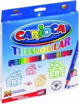Kredki ołówkowe 24 kolory JUMBO SUPER SOFT CARIOCA - X00659