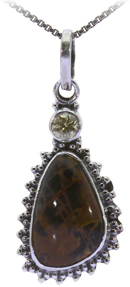 Kuźnia Srebra - Zawieszka srebrna, 34mm, Jaspis, Cytryn, 3g, model