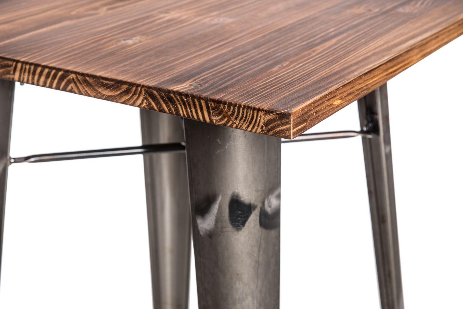 D2 Stół barowy Paris Wood metaliczny sosna