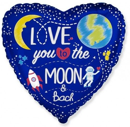 Balon foliowy Serce, Kosmos