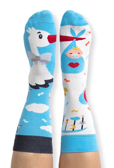 Skarpety kolorowe bocian i chłopiec Stork It s a boy