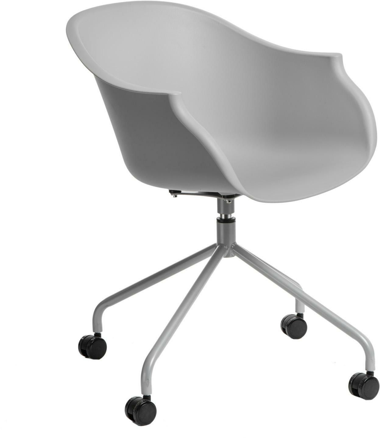 Krzesło na kółkach ROUNDY szare