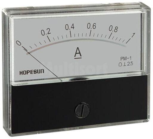 Analogowy amperomierz panelowy 1A DC 70x60mm