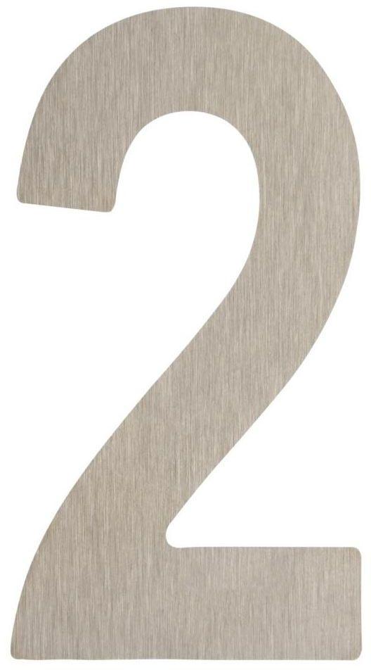 Cyfra 2 wys. 5 cm metalowa srebrna