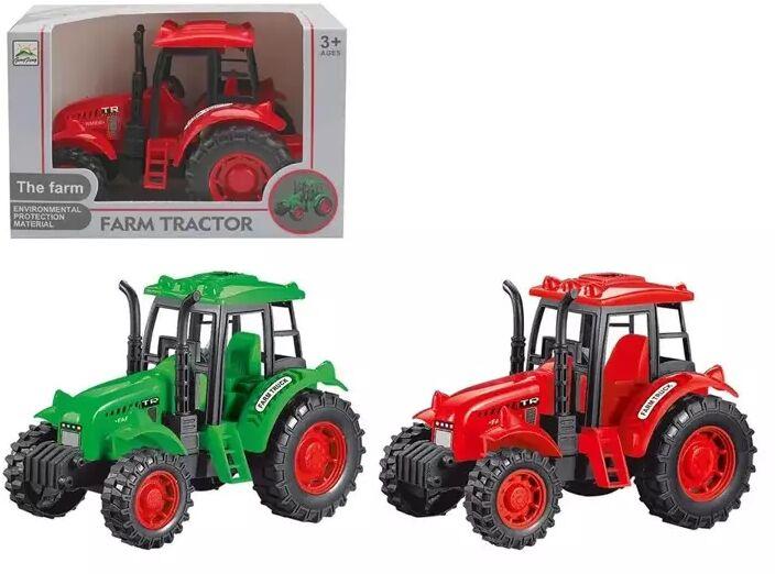 Traktor zielony/czerwony - Askato
