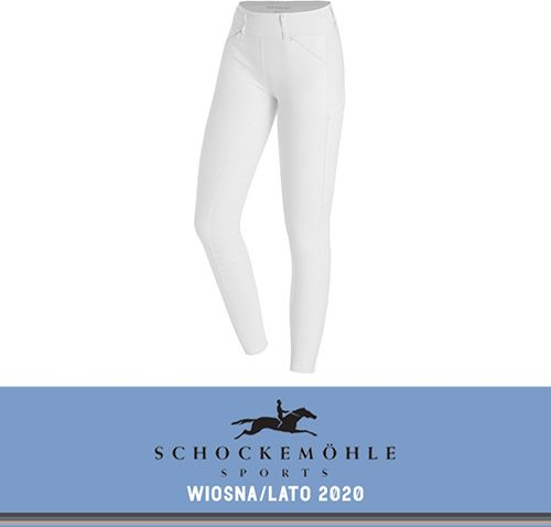 Legginsy SHOW TIGHTS SS20 - Schockemohle - white