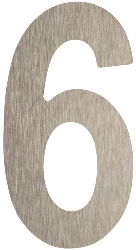 Cyfra 6/9 wys. 5 cm metalowa srebrna