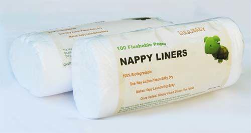biodegradowalne bibułki do pieluszek wielorazowych