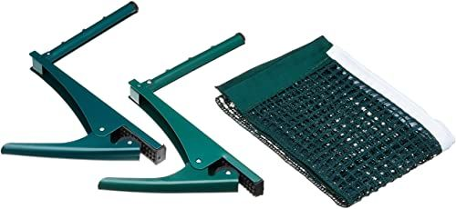 Relaxdays Siatka do tenisa stołowego, siatka pingpong, metalowe zaciski, do użytku na zewnątrz, odporna na działanie wody, wys. x szer. x gł.: 15 x 174 x 2,5 cm, zielona