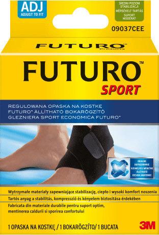 Futuro regulowana opaska na kostkę czarna, 1 szt.