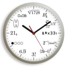 Zegar ścienny matematyka #2W