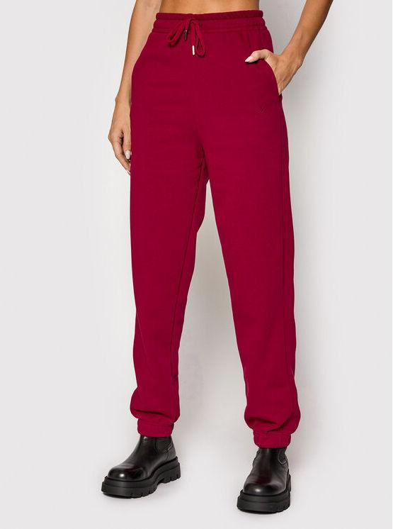 Spodnie dresowe Rubigz 10905447 Bordowy Loose Fit