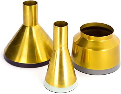 Dekoracja wazon garnki złota dekoracja wazon metalowy 3-częściowy zestaw salon zielony