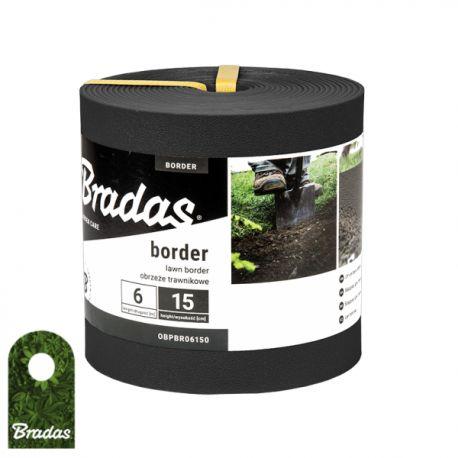 Obrzeże trawnikowe BORDER 6m x 15cm czarne OBPBK06150 Bradas 2326