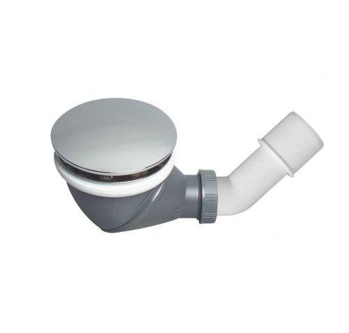 Syfon brodzika fi 90mm z pełnym grzybkiem, czyszczony od góry, chrom, 1 1/2'' x 40/50 mm