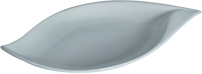 Dajar półmisek do serwowania Boot Salsa 31,2 x 18 cm AMBITION, porcelana, biała, 2 x 18 x 2,8 cm