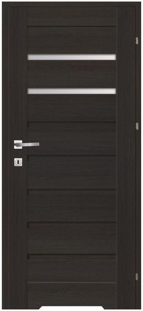 Skrzydło drzwiowe z podcięciem wentylacyjnym Nemez Antracyt 80 Prawe Artens