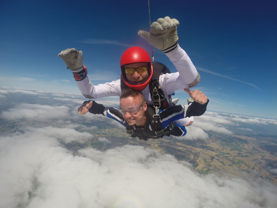 Skok ze spadochronem - Trójmiasto