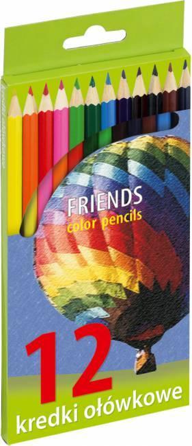 Kredki ołówkowe sześciokątne 12 kolorów - X00651
