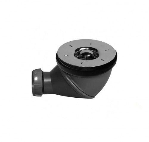 Syfon brodzika fi 90mm grzybkiem, czyszczony od góry, chrom, 1 1/2'' x 40 mm