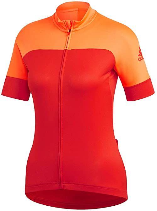 adidas Damska koszulka rowerowa pomarańczowa Hireor/Hirere X-L
