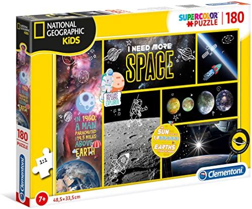 Clementoni Puzzle National Geographic Kids 180 Pz - I Need More Space Ufficiale