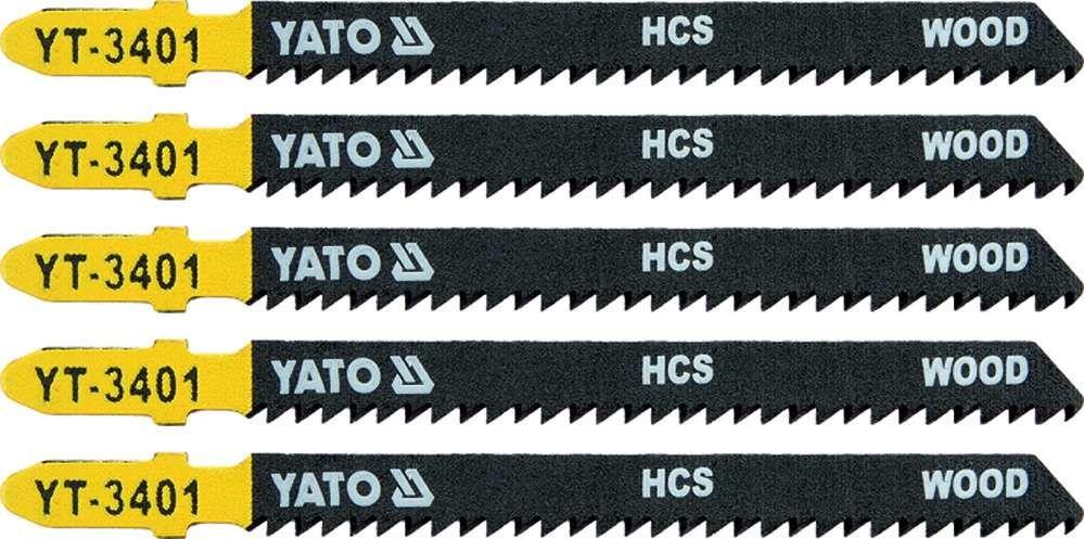 Brzeszczot do wyrzynarki typ t, 10 tpi, do drewna, 5 szt Yato YT-3401 - ZYSKAJ RABAT 30 ZŁ