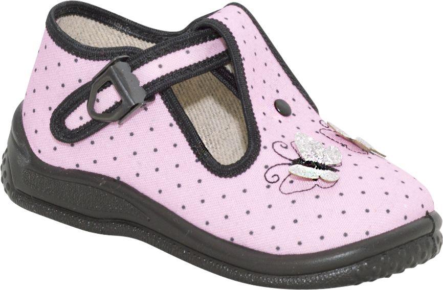 ZETPOL kapcie dziewczęce Daria różowo - czarna