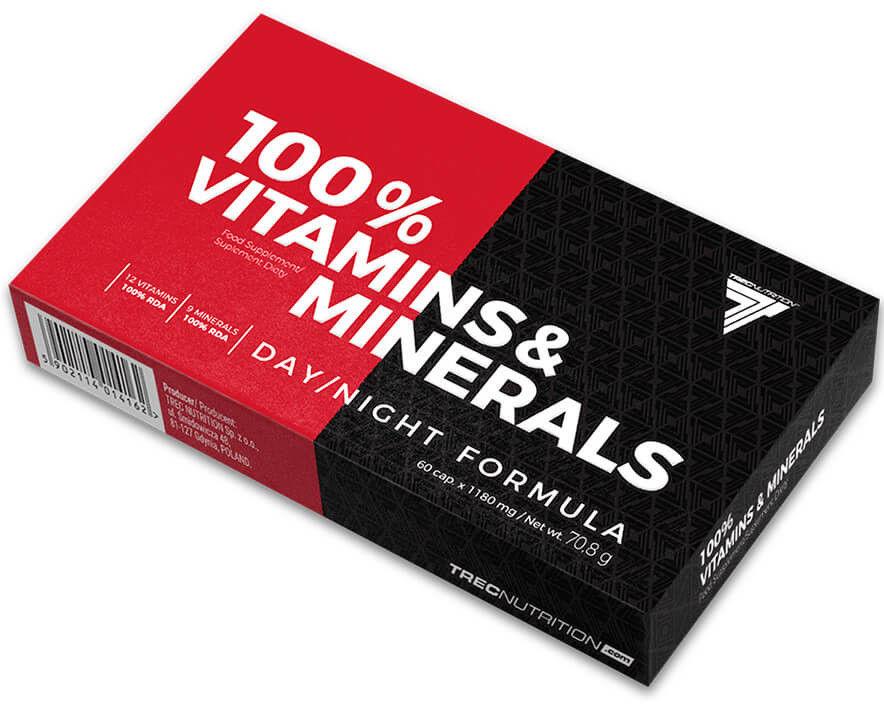 Witaminy Trec 100% Vitamins & Mineral 60 kaps.